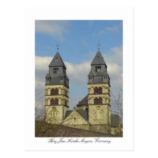 Carte Postale Herz Jesu Kirche, Mayen, Allemagne