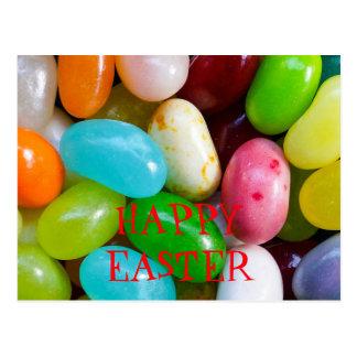 Carte postale heureuse de Pâques de dragée à la