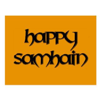 Carte postale heureuse de Samhain