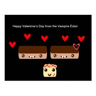 Carte Postale Heureuse Sainte-Valentin du vampire Éclair