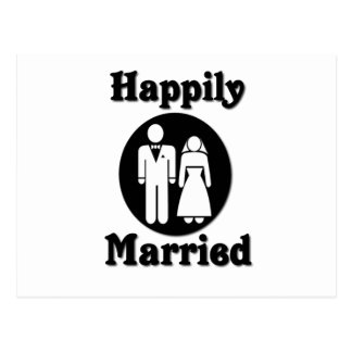 Carte Postale Heureusement marié