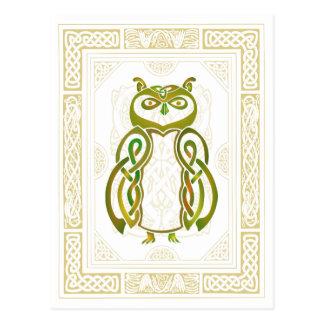 Carte Postale Hibou celtique