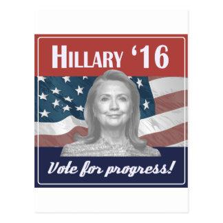 Carte Postale Hillary Clinton 2016