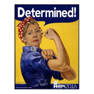 Carte Postale Hillary Clinton a déterminé !