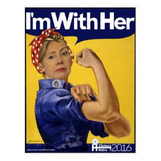 Carte Postale Hillary Clinton je suis avec elle !