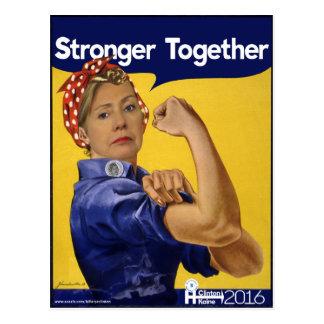 Carte Postale Hillary Clinton plus forte ensemble