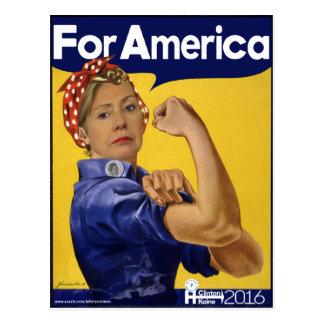 Carte Postale Hillary Clinton pour l'Amérique