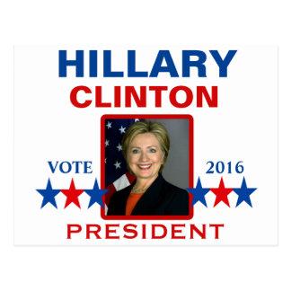 Carte Postale Hillary Clinton pour le président 2016