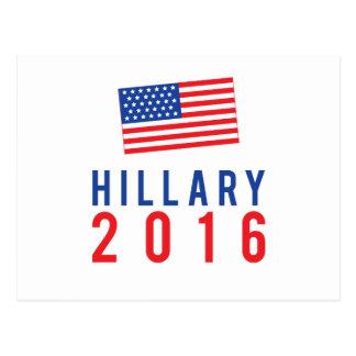 Carte Postale Hillary Clinton pour le président 2016 avec le