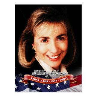 Carte Postale Hillary Clinton, première Madame des États-Unis