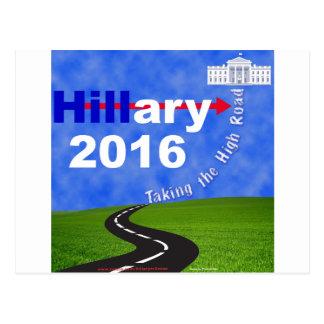 Carte Postale Hillary Clinton prenant la haute route