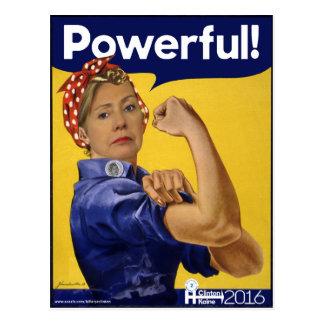 Carte Postale Hillary Clinton puissante !