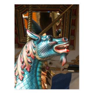Carte Postale Hippocampe de carrousel