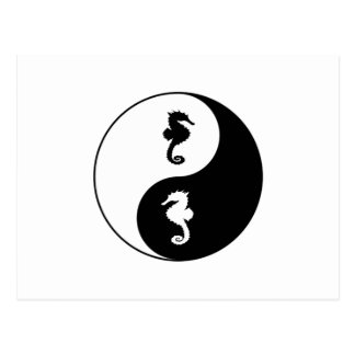 Carte Postale Hippocampe de Yin Yang