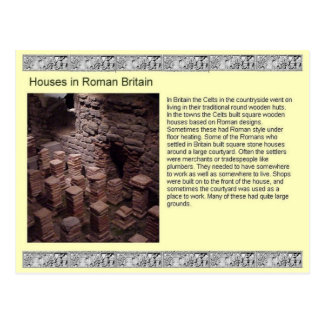 Carte Postale Histoire, Chambres en Grande-Bretagne romaine