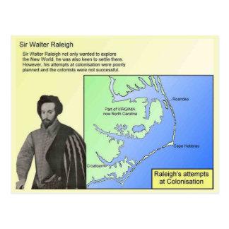 Carte Postale Histoire, explorateurs, monsieur Walter Raleigh