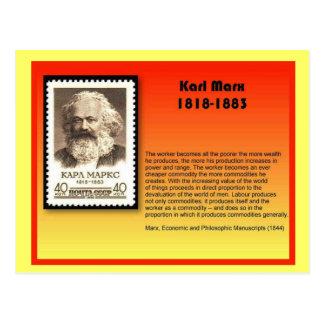 Carte Postale Histoire, Karl Marx