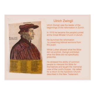 Carte Postale Histoire, religion, réforme suisse, Zwingli