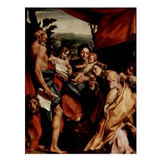 Carte Postale Hl de DES de Correggio Madonna. Hieronymus