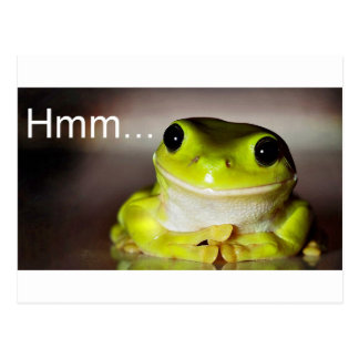 Carte Postale Hmm grenouille