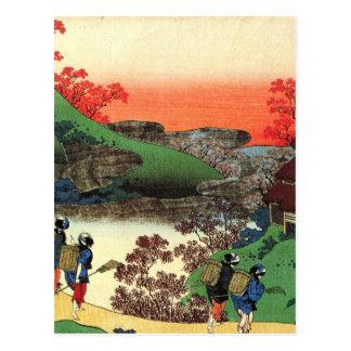 Carte Postale Hokusai - art japonais - le Japon