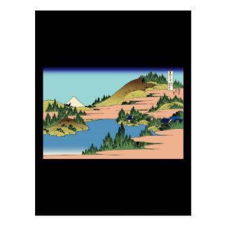 Carte Postale Hokusai le lac de Hakone dans la province de