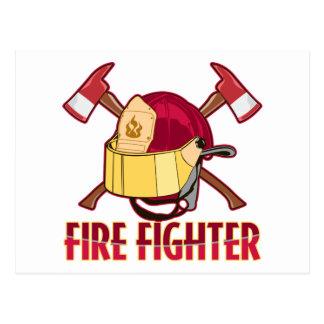 Carte Postale Hommage de pompier