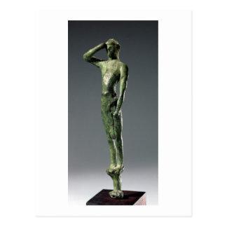 Carte Postale Homme à la prière, sculpture en bronze grecque
