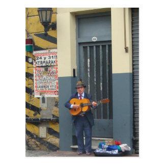 Carte Postale Homme de musique sur la rue à Buenos Aires