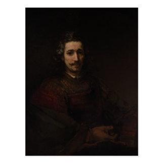 Carte Postale Homme de Rembrandt avec une loupe