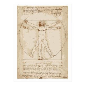 Carte Postale Homme de Vitruvian