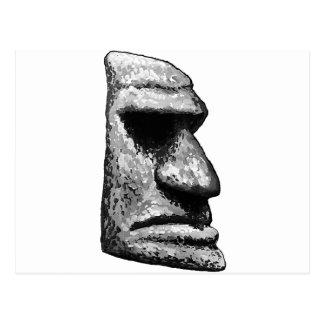 Carte Postale Homme en pierre de Tiki