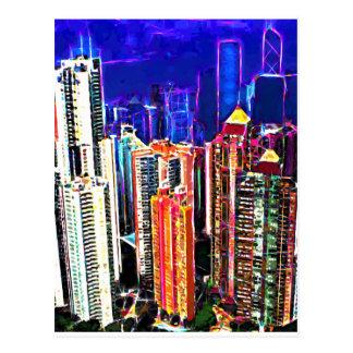 Carte Postale Hong Kong du centre : La Chine :