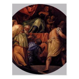 Carte Postale Honneur par Paolo Veronese