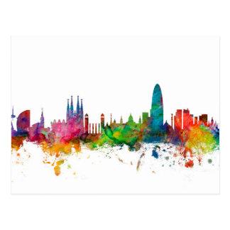 Carte Postale Horizon de Barcelone Espagne