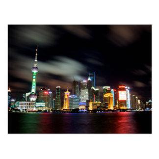 Carte Postale Horizon de Changhaï par nuit
