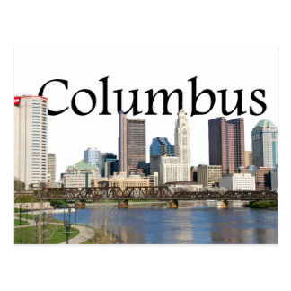 Carte Postale Horizon de Columbus, Ohio avec Columbus dans le