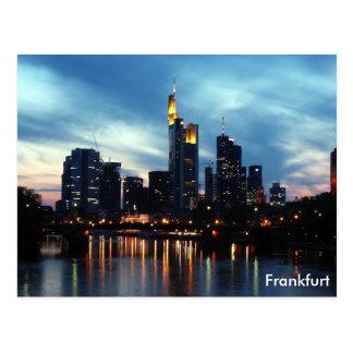 Carte Postale Horizon de Francfort, Allemagne