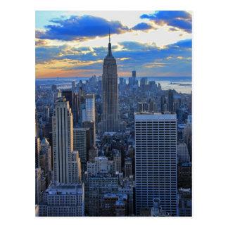 Carte Postale Horizon de la fin de l'après-midi NYC comme
