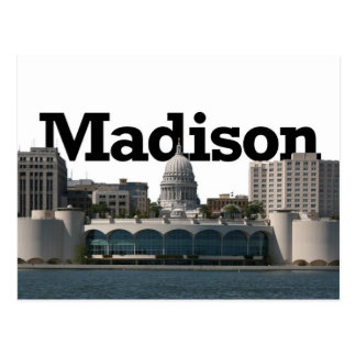 Carte Postale Horizon de Madison le Wisconsin avec Madison dans