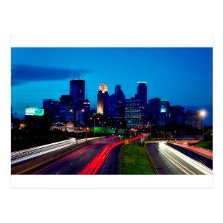 Carte Postale Horizon de nuit de Minneapolis