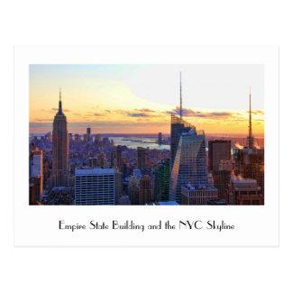 Carte Postale Horizon de NYC : ESB, la Banque d'Amérique, 4 fois