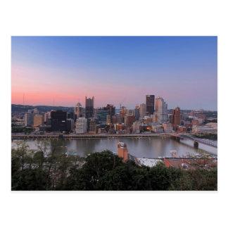Carte Postale Horizon de Pittsburgh au coucher du soleil