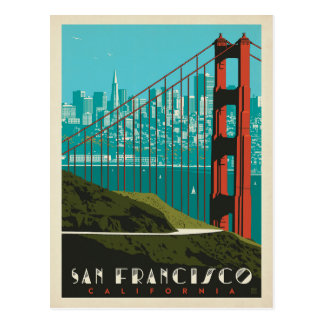 Carte Postale Horizon de San Francisco | golden gate bridge