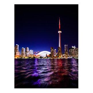 Carte Postale Horizon de Toronto la nuit