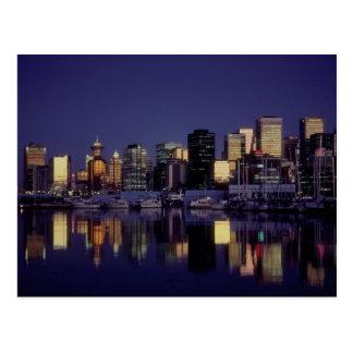 Carte Postale Horizon de Vancouver, Colombie-Britannique, Canada