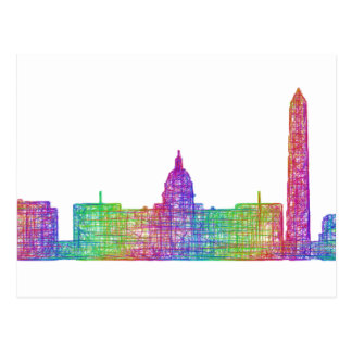 Carte Postale Horizon de Washington DC