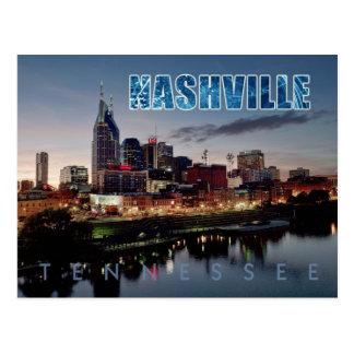 Carte Postale Horizon du centre de Nashville, Tennessee la nuit