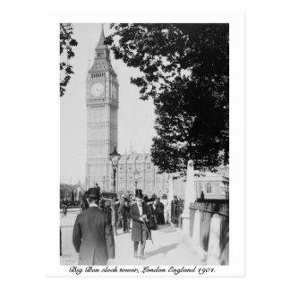 Carte Postale Horloge de Londres Big Ben et Chambre du Parlement
