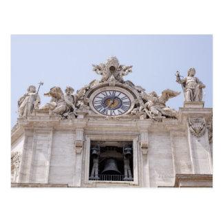 Carte Postale Horloge et Bell, Ville du Vatican, Rome, Italie